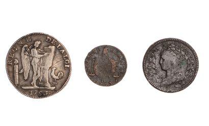 CONSTITUTION - CONVENTION  Lot de 3 monnaies...
