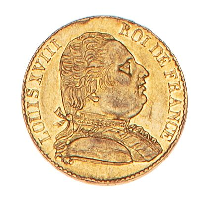 LOUIS XVIII  20 francs or 1815 Londres.  Le...