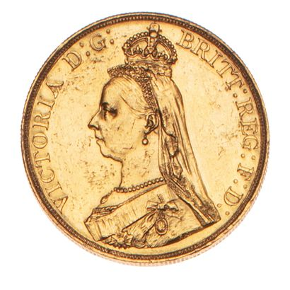 GRANDE BRETAGNE  Victoria 5 livres 1887 Londres....