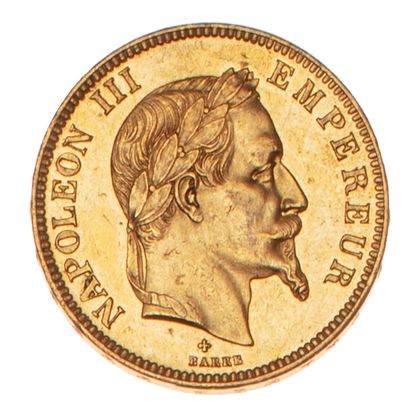 NAPOLEON III  100 francs or type lauré 1862...