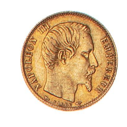 NAPOLEON III  5 francs or non lauré petit...