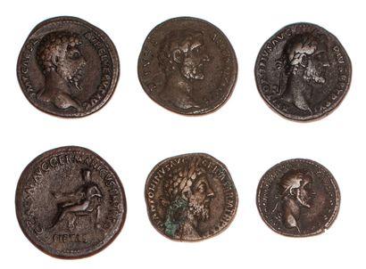 EMPIRE ROMAIN  Lot de 6 monnaies romaines...