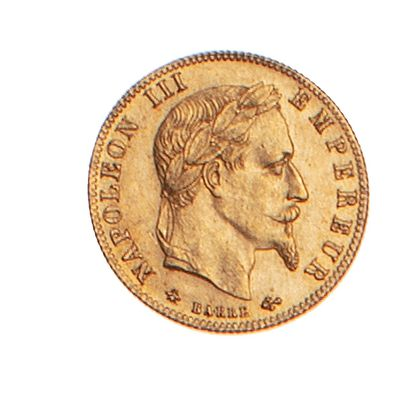 NAPOLEON III  5 francs or type lauré, 1866...