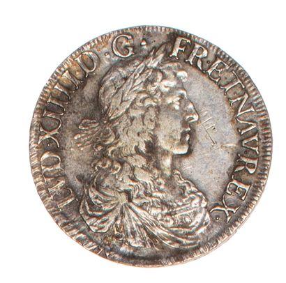 LOUIS XIV  Ecu au buste juvénile 1664 Bayonne....