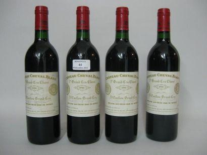 4 Bouteilles CH. CHEVAL-BLANC, 1° grand cru,...