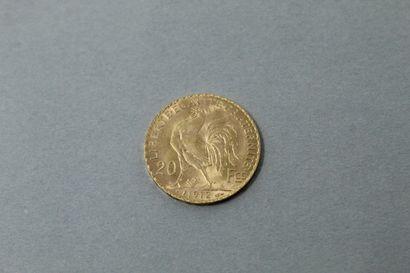 Pièce en or de 20 francs Coq (1912)  TTB...
