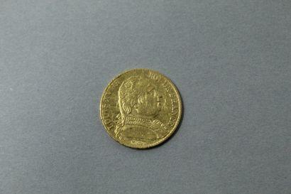 Pièce en or de 20 Francs Louis XVIII (1814...