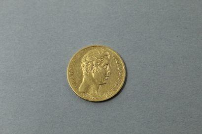 Pièce en or de 20 Francs Charles X 1825 A....