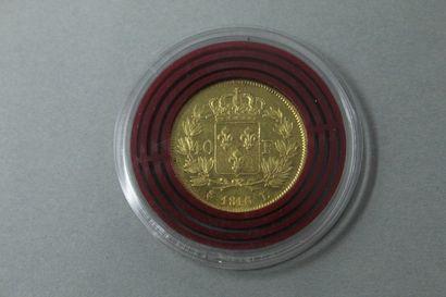 Pièce en or de 40 Francs Louis XVIII (1816...