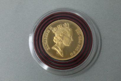 Pièce en or de 2 pounds Elizabeth II (1985)....