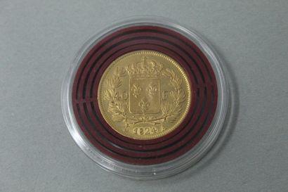 Pièce en or de 40 Francs Charles X (1824,...