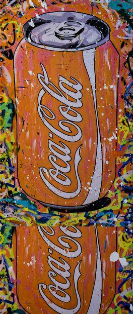 ZOULLIART (né en 1996)  Canettes Coca orange,...