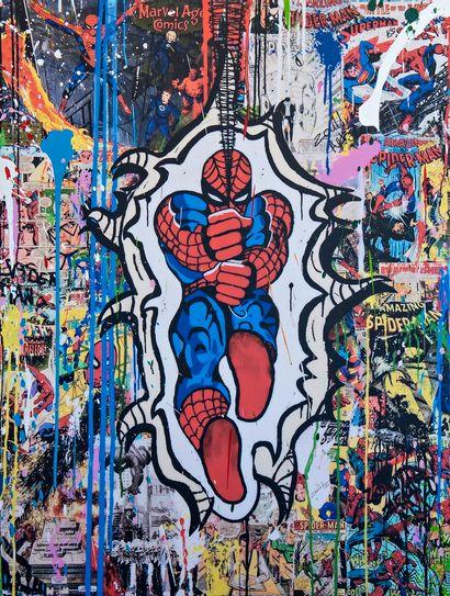 ZOULLIART (né en 1996)  Spiderman, 2020  Oeuvre...