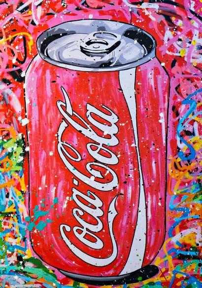 ZOULLIART (né en 1996)  Canette Coca rouge,...