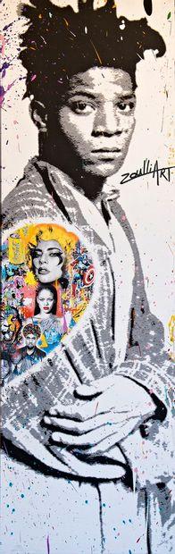 ZOULLIART (né en 1996)  Jean-Michel Basquiat...
