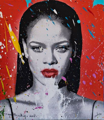ZOULLIART (né en 1996)  Rihanna, 2020  oeuvre...