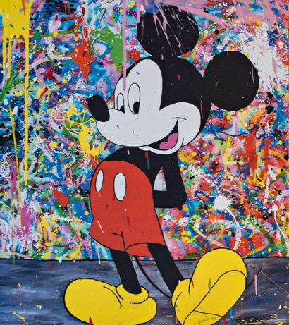 ZOULLIART (né en 1996)  Mickey rouge, 2020...