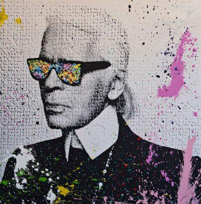 ZOULLIART (né en 1996)  Karl Lagerfeld, 2020...