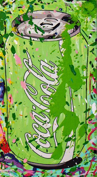 ZOULLIART (né en 1996)  Canette Coca verte,...