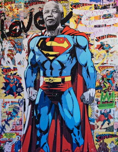 ZOULLIART (né en 1996)  Super Mandela, 2020...