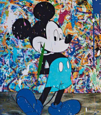 ZOULLIART (né en 1996)  Mickey bleu 2020...