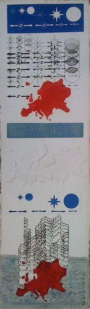 XENAKIS Constantin  Gravure originale  Signée...