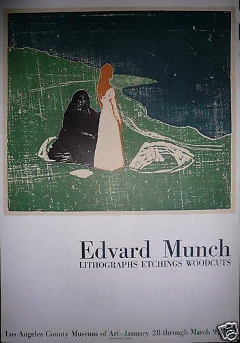 MUNCH Edvard  1969  Affiche en Lithographie....