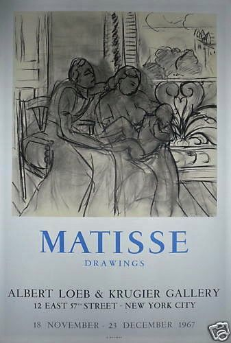 MATISSE Henri  Affiche en Lithographie.  Exposition...