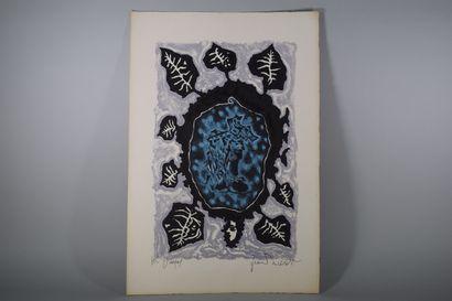 LURCAT Jean (1892 - 1966)  Feuille stylisée,...
