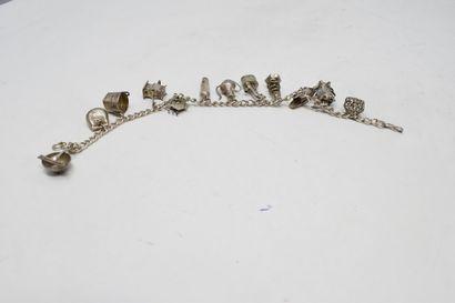 CHINE - XXe siècle  Petit bracelet en métal...