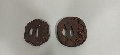 JAPON - Epoque EDO (1603 - 1868)  Deux tsuba...