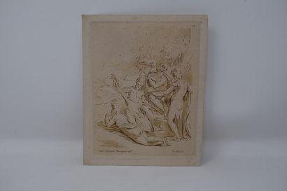 Fra. Mazzola dit Parmigianino (D'après)  Groupe...