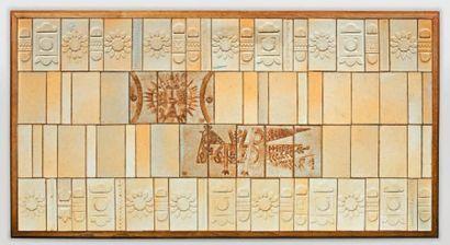 CAPRON Roger (1922 - 2006)  Panneau en céramique...