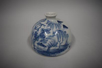 CHINE - Début XXe siècle  Rince-pinceaux...