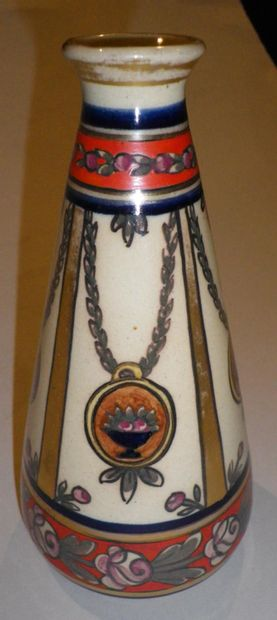 RENOLEAU Alfred (1854-1930)  Vase piriforme...
