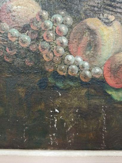 ECOLE MODERNE dans le goût de François Boucher  Scène romantique, huile sur toile....