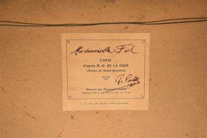 CASEZ Raymond (XX) d'après Maurice QUENTIN de LATOUR  Portrait de Mademoiselle Fel...