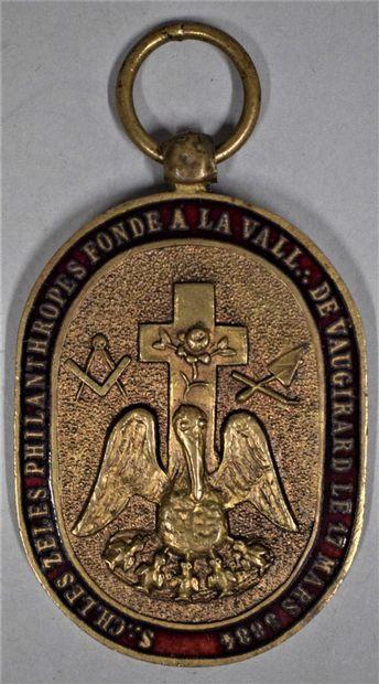 Médaille du souverain chapitre les zélés...