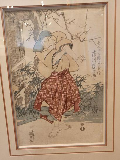 JAPON - Période Edo  Estampe Japonaise représentant...