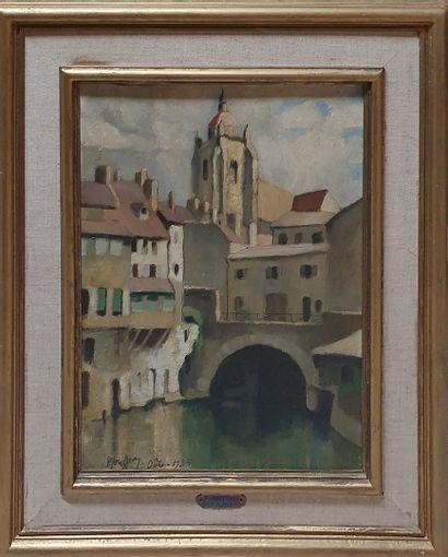 JOUFFROY Pierre, 1912-2000,  Vue de Dole,...
