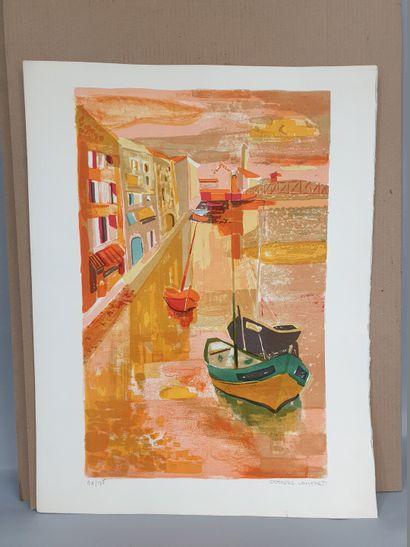 LAMBERT Georges (1919-1998)  Les voiliers...
