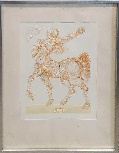 DALI, d'après  Le centaure - La Divine Comédie...