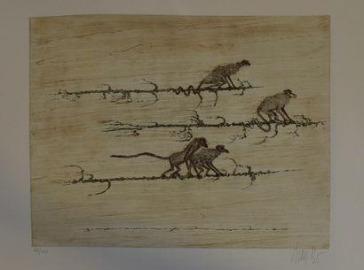 BO Lars (1924-1999)    Le mur,  Lithographie...