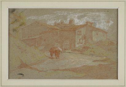 VOLLON Antoine, 1833-1900  Le retour à la...