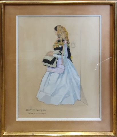 GUGES Gabriel (XX)  Etudes de costumes traditionnels,...
