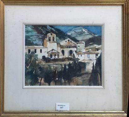 JUTAND Pierre, 1935-2019  Village de montagne...
