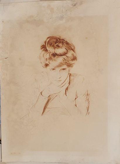 HELLEU César Paul (1859-1927)  Madame Helleu...