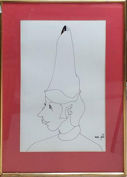 PETIT Marc (né en 1932)  Homme au chapeau,...