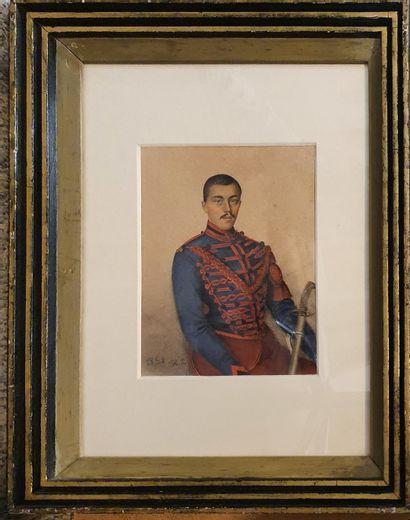 ANONYME [H.L.]  Hussard de la guerre de Crimée,...