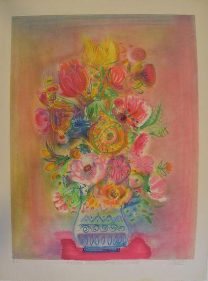 MENTOR Blasco (1919-2003)  Bouquet flamboyant,...